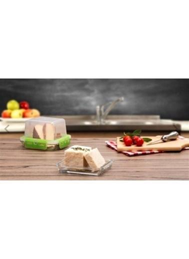 Paşabahçe 53879 Storemax Cam Kilitli Saklama Kabı 2 Li Peynir Saklama Servis Kabı Renkli